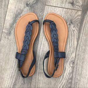 Navy Rampage Sandals